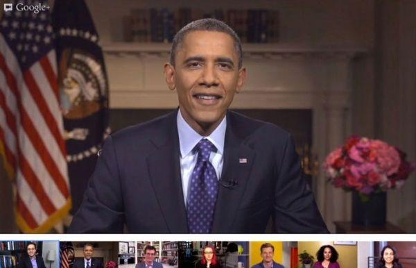 President - Obama - Google - Hangout - 600 x 386