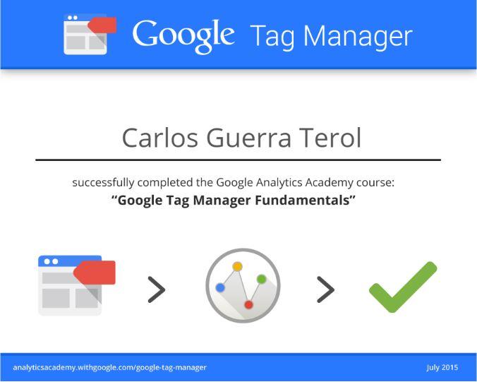 Certificado Google Tag Manager