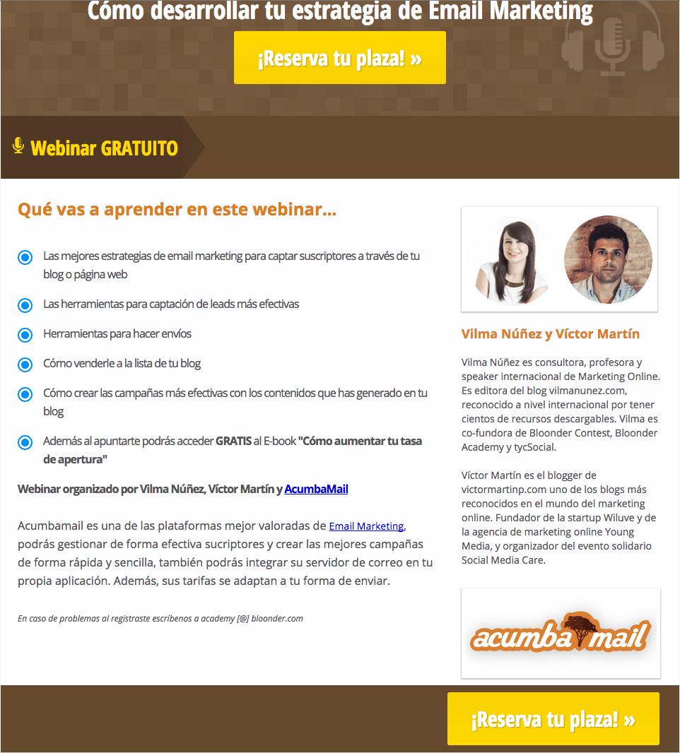 landing-page-webinar-email-marketing-vilma-nunez-y-victor-martin