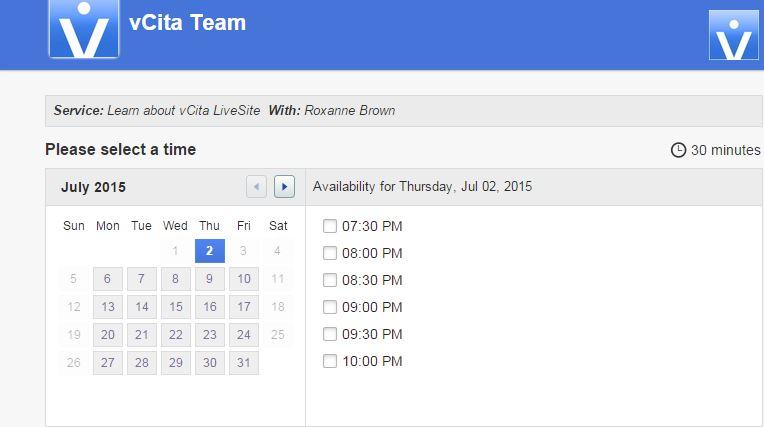 vCita-calendario